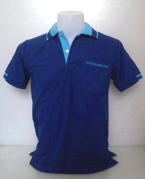 Dark Blue Polo Shirts Collar