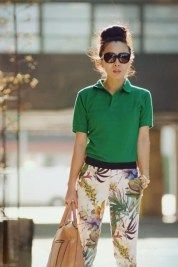 women polo shirt with slacks 2