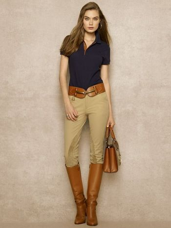 women polo shirt with slacks 3