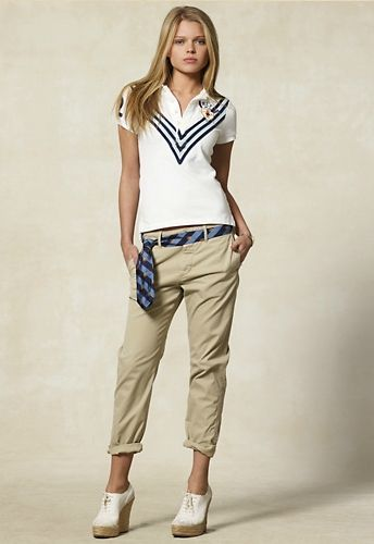 women polo shirt with slacks 9