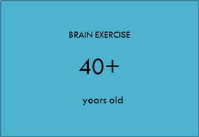 Brain exercise 40+ years old