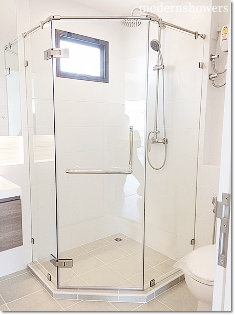 ฉากกั้นห้องน้ำ modernshowers กระจกนิรภัย