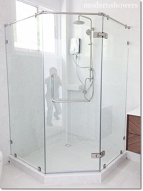 กระจกกั้นอาบน้ำ กระจกนิรภัย modernshowers