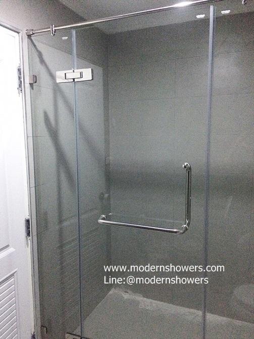 ฉากกั้นอาบนั้ำกระจก คุณภาพดี ราคาไม่แพง