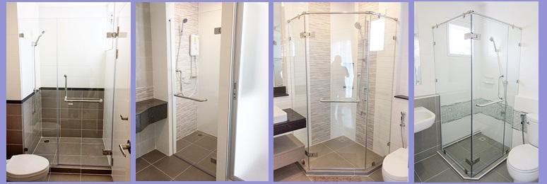 กระจกกั้นห้องน้ำ แบบไหนดี มีหลากหลายแบบ