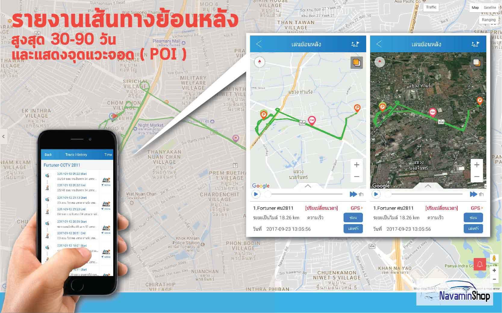 กล้องติดรถยนต์ออนไลน์ผ่านมือถือ3G TRACKER CCTV