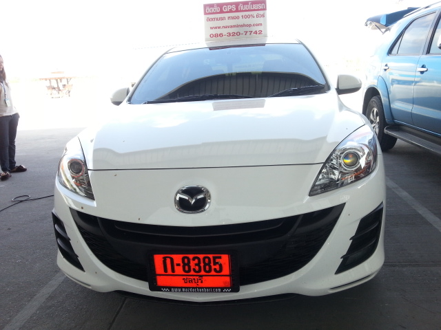 Mazda ติดตั้งGps Tracking  ป้องกันขโมย สั่ดับเครื่องยนต์ทางมือถือได้ทันที
