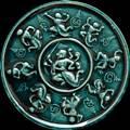 พญาชิงชัย เนื้อผงเคลือบเขียว รุ่นบูรณะหลักเมือง ปี2547