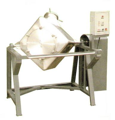 เครื่องผสมยาและเครื่องผสมอาหารทรงลูกเต๋าโครงสร้างเหล็ก เครื่องผสมแห้ง