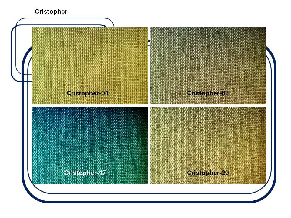 ผ้าบุเฟอร์นิเจอร์  Code : Cristopher