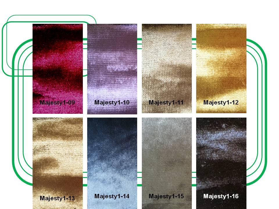 ผ้ากำมะหยี่สำหรับบุเฟอร์นิเจอร์ และผ้าม่าน  Code : Majesty1