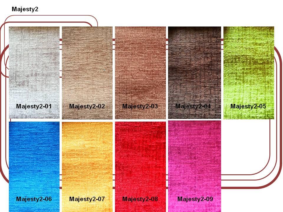 ผ้ากำมะหยี่สำหรับบุเฟอร์นิเจอร์ และผ้าม่าน  Code : Majesty2
