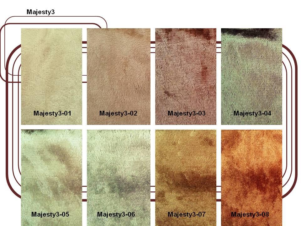 ผ้ากำมะหยี่สำหรับบุเฟอร์นิเจอร์ และผ้าม่าน  Code : Majesty3