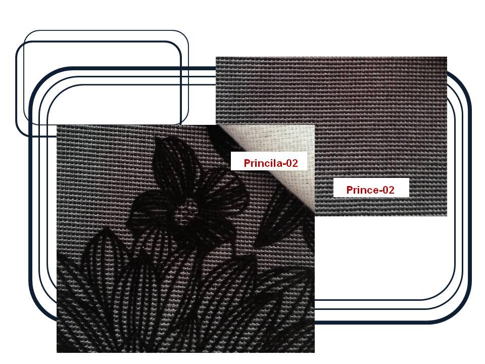 ผ้าบุเฟอร์นิเจอร์  Code : Princila&Prince1