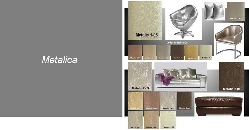 Metalic Leather Upholstery