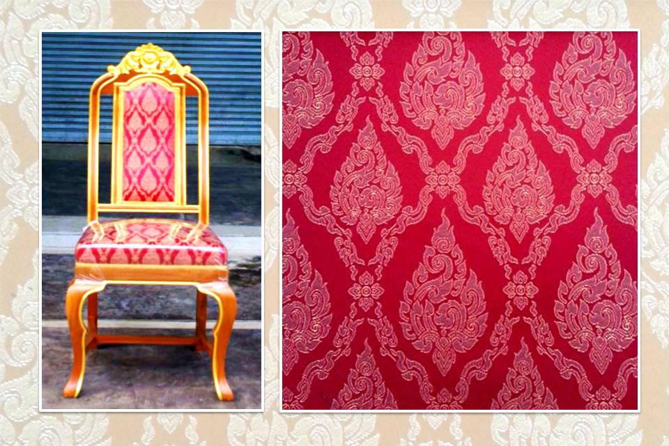 เก้าอี้บุผ้าลายไทยกระจังSawaddee1-04