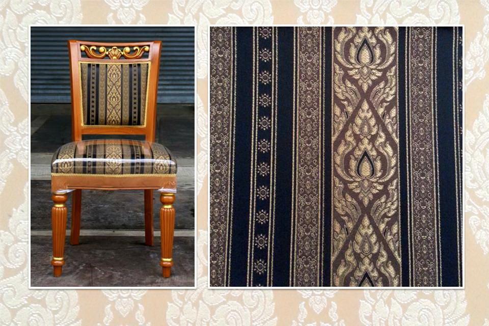 เก้าอี้บุผ้าลายไทยช่อเปลวSawaddee2-05
