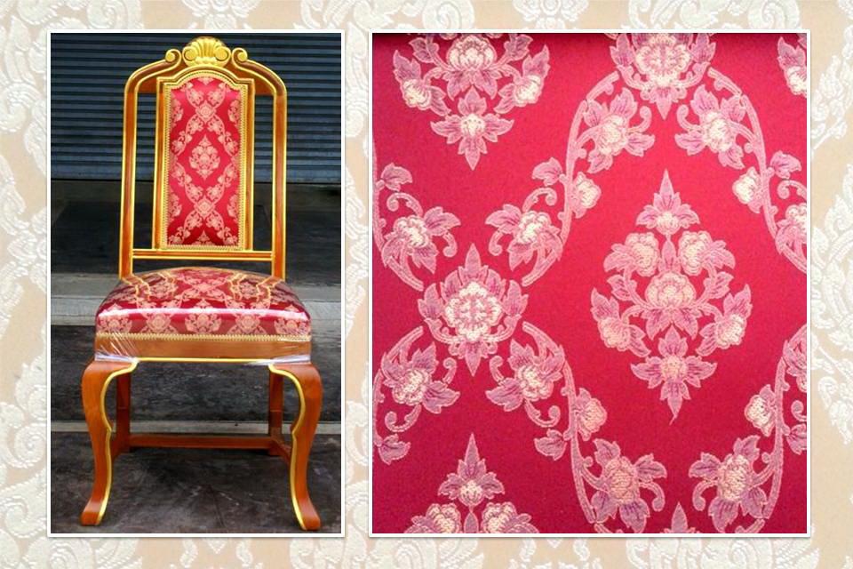 เก้าอี้บุผ้าลายไทยพุดตานSawaddee3-04