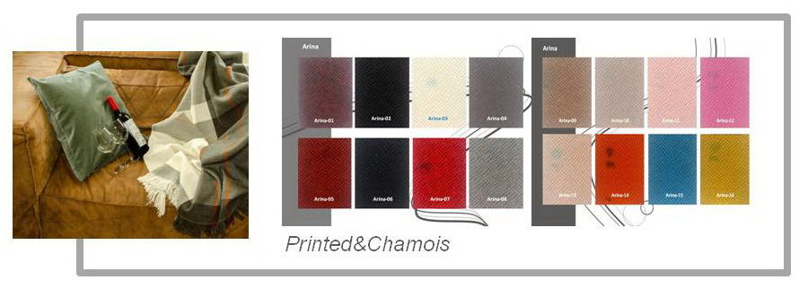 Printed&Chamois PVC Leather