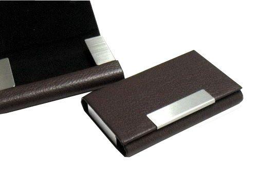 กล่องใส่นามบัตร   กล่องใส่นามบัตรของชำร่วย  กล่องใส่นามบัตรพรีเมี่ยม  กล่องใส่นามบัตรของที่ระลึก  กล่องใส่นามบัตรของพรีเมี่ยม  รุ่น H-002 Brown