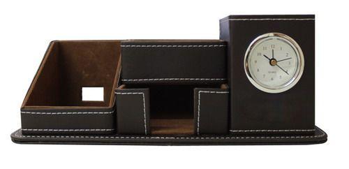นาฬิกากล่องหนัง ใส่เครื่องเขียน ,ของพรีเมี่ยม,สินค้าพรีเมี่ยม,พรีเมี่ยม,ของที่ระลึก,ของขวัญปีใหม่
