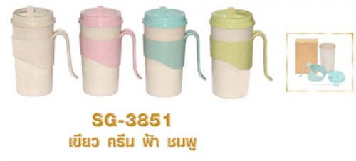 แก้วพลาสติกรีไซเคิล,แก้วพลาสติกรีไซเคิลจาก ฟางข้าว ,แก้วพลาสติกรีไซเคิลความจุ 450 ml. ,แก้วพลาสติกรีไซเคิล ขนาด : สูง 15.6 xกว้าง 7.8 ซม  . มีสต๊อก สีครีม ชมพู เขียว ฟ้า
