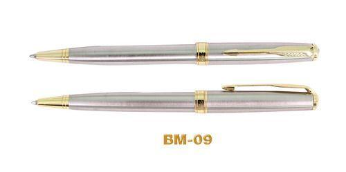 ปากกาโลหะ,ปากกาโลหะ ด้ามสเตนเลสด้าน คลิปทอง
