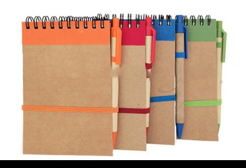 มุดโน๊ต Recycle พรีเมี่ยม พร้อมปากกา รุ่น JN – 2185  }สมุดโน๊ต Recycle พร้อมปากกา Recycle}  สมุดโน๊ต สมุดฉีก