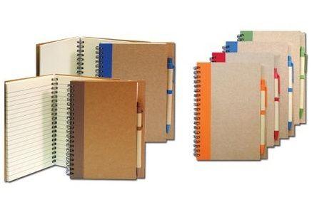 สมุดโน๊ต Recycle พร้อมปากกา รุ่น HL – 9835  ,สมุดโน๊ต  พร้อมปากกา , สมุดโน๊ตรีไซเคิล เปิดข้าง มีที่เสียบปากกา
