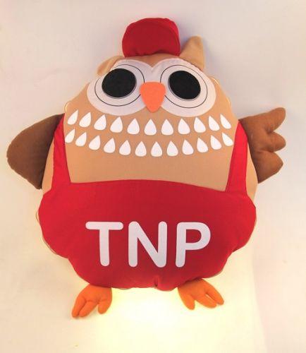 หมอนอิงรูปทรงตัวการ์ตูน ผ้าทีคอต พิมพ์ลาย TNP
