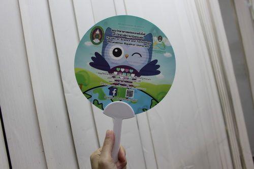 พัดพลาสติกราคาถูก คุณภาพดี พัดทำจากพลาสติก PP พร้อมทั้งบริการส่งพัดพลาสติกทั่วประเทศ 500 ชิ้น.