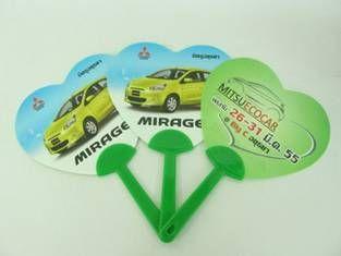 พัดพลาสติก โลโก้ MITSUBISHI MIRAGE รับผลิตพัดสปริง พัดพลาสติก ของพรีเมี่ยม ของแจก