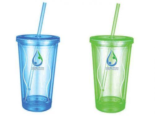 แก้วน้ำพลาสติก  แก้วน้ำพลาสติกของขวัญ แก้วน้ำพลาสติกของพรีเมี่ยม ของที่ระลึก