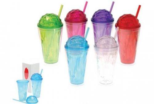 แก้วน้ำพลาสติก ,แก้วน้ำพลาสติกพรีเมี่ยม ,แก้วพร้อมหลอดดูด