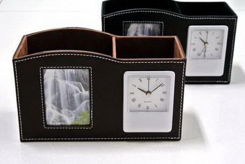 นาฬิกากล่องหนังของพรีเมี่ยม,ของขวัญ,ของชำร่วย,ของที่ระลึก