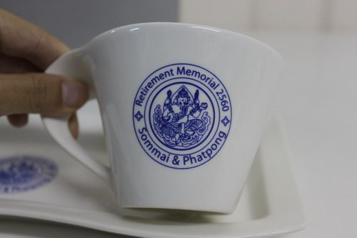 ชุดแก้วกาแฟพร้อมจานรอง