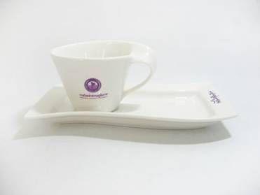 แก้วกาแฟพร้อมจานรอง ของพรีเมี่ยมคุณภาพสูง ดูดี น่าใช้ ไม่เหมือนใคร ช่วยยกระดับ Brand ของคุณ