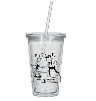 แก้วพลาสติกพร้อมหลอด,ของพรีเมี่ยม,ของทึ่ระลึก,ของขวัญปีใหม่