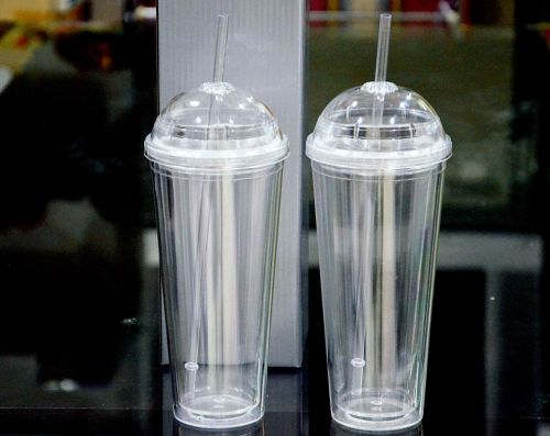 ถ้วยน้ำพลาสติก 2 ชั้น 24 OZ.