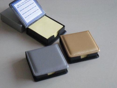 กล่องกระดาษโน้ต F-01 (สีเทา, สีทอง) ขนาด 9 x 9 x 2.5 ซม. กระดาษ 200แผ่น