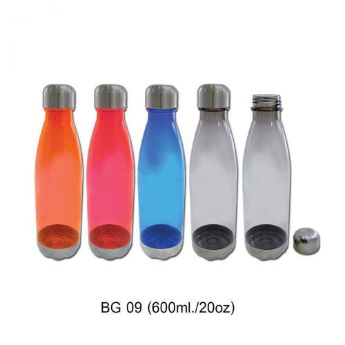 ขวดน้ำพลาสติก,ขวดน้ำพลาสติก ฝาเปิดแบบเกลียว  ขวดน้ำพลาสติก– ตัวกระบอกน้ำเป็นพลาสติกใสมีสี สามารถมองเห็นด้านใน ,ขวดน้ำพลาสติก – ตัวกระบอกน้ำคล้ายโบว์ลิ่ง