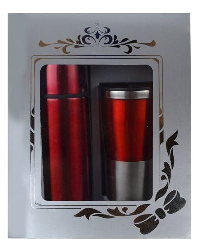 กล่อง ชุดกิฟท์เซ็ต,แก้วน้ำกระบอกน้ำ,ของขวัญปีใหม่,ชุดกิฟท์เซ็ตสีแดง