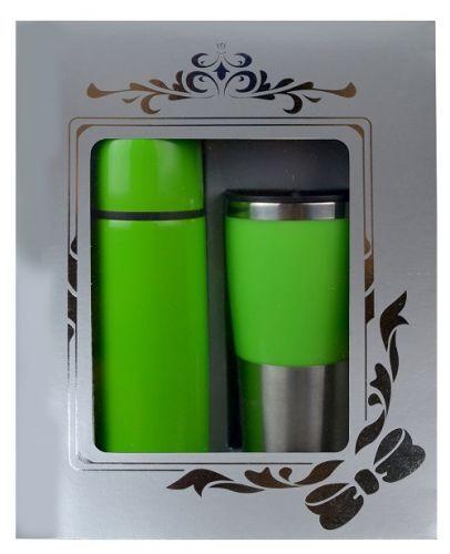 กล่องชุดกิฟท์เซ็ต,แก้วน้ำกระบอกน้ำ,ของขวัญปีใหม่,ชุดกิฟท์เซ็ตสีเขียว