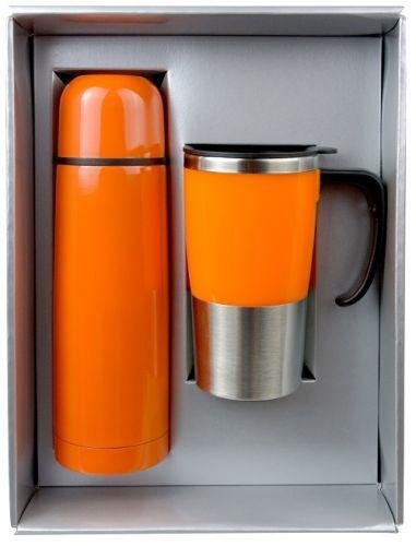 ชุดกิฟท์เซ็ต,แก้วน้ำกระบอกน้ำ,ของขวัญปีใหม่,ชุดกิฟท์เซ็ตสีส้ม