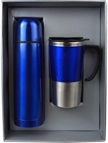 ชุดกิฟท์เซ็ต,แก้วน้ำกระบอกน้ำ,ของขวัญปีใหม่,ชุดกิฟท์เซ็ตสีน้ำเงิน