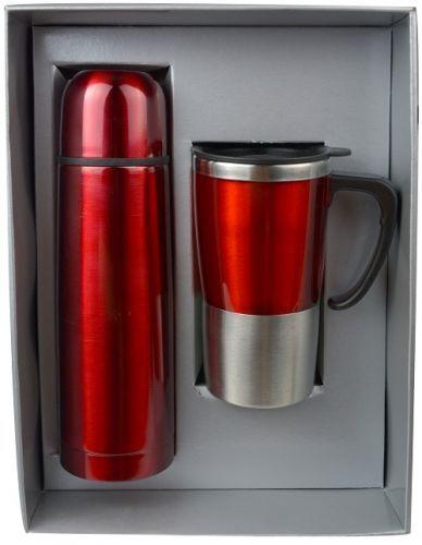 ชุดกิฟท์เซ็ต,แก้วน้ำกระบอกน้ำ,ของขวัญปีใหม่,ชุดกิฟท์เซ็ตสีแดง