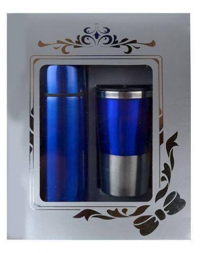 กล่องชุดกิฟท์เซ็ต,แก้วน้ำกระบอกน้ำ,ของขวัญปีใหม่,ชุดกิฟท์เซ็ตสีน้ำเงิน
