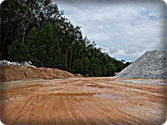 Gypsum mineral.