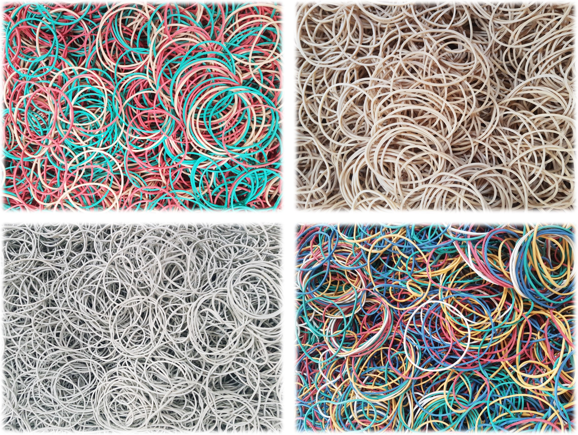 rubber bands, natural rubber bands, compound rubber bands