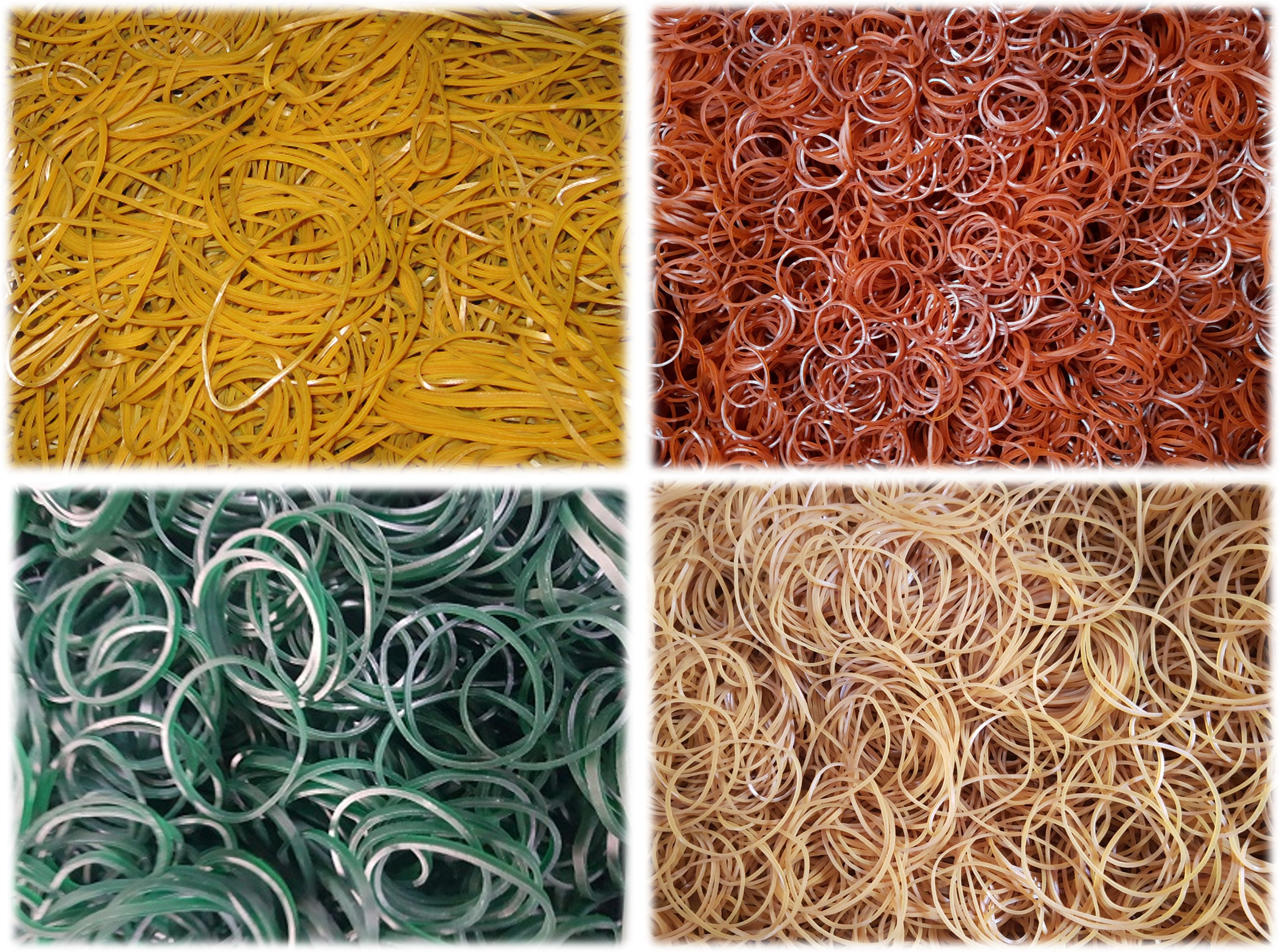 rubber bands, natural rubber bands, crepe rubber bands, rubber band